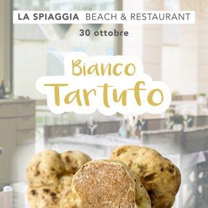 Bianco Tartufo: cena a La Spiaggia